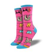 Sloth on a Line Ladies Socks